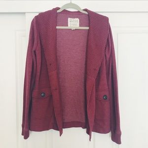 Billabong thick maroon cardigan